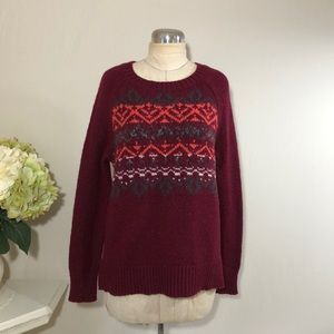 American Eagle Crew Neck Wool Blend Sweater